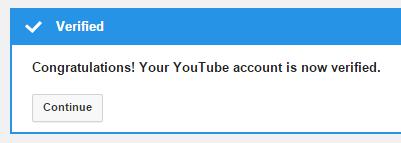 account verified