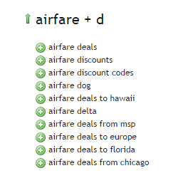 Airfare - Ubersuggest Results D