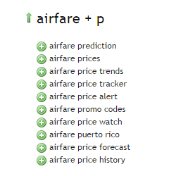 Airfare - Ubersuggest Results P