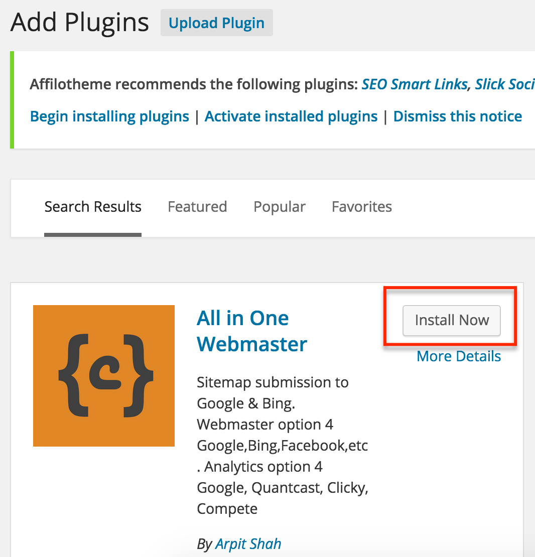 Search Results All In One Webmaster - Wordpress