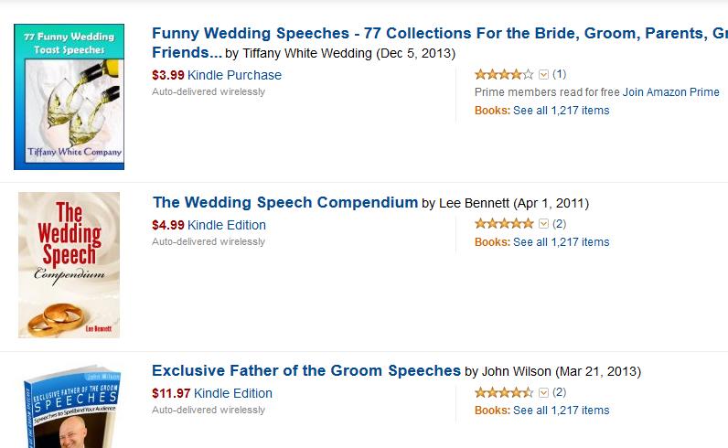 Amazon - Wedding Speech Affiliate Programs