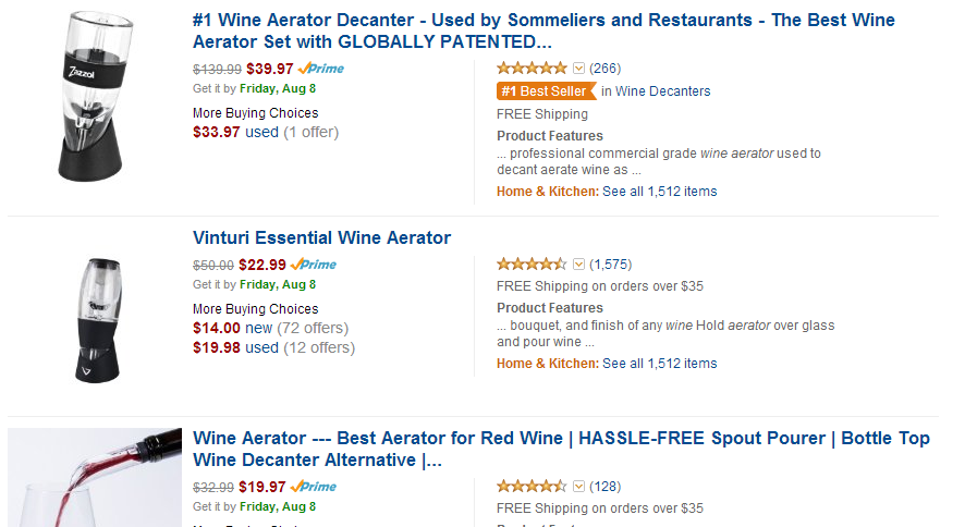 Amazon.com - Wine Aerators Affiliate Programs