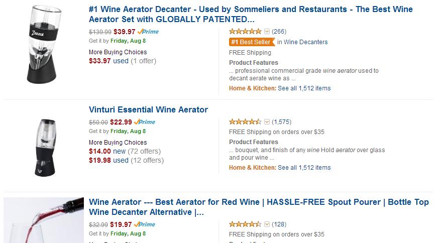 Amazon.com - Wine Aerators Affiliate Programs