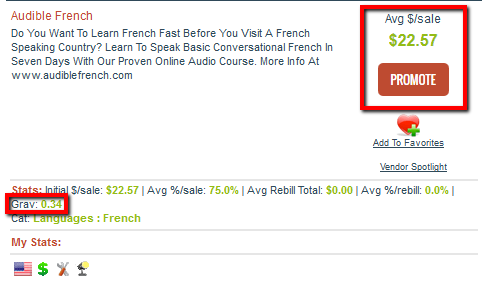 Audible French ClickBank