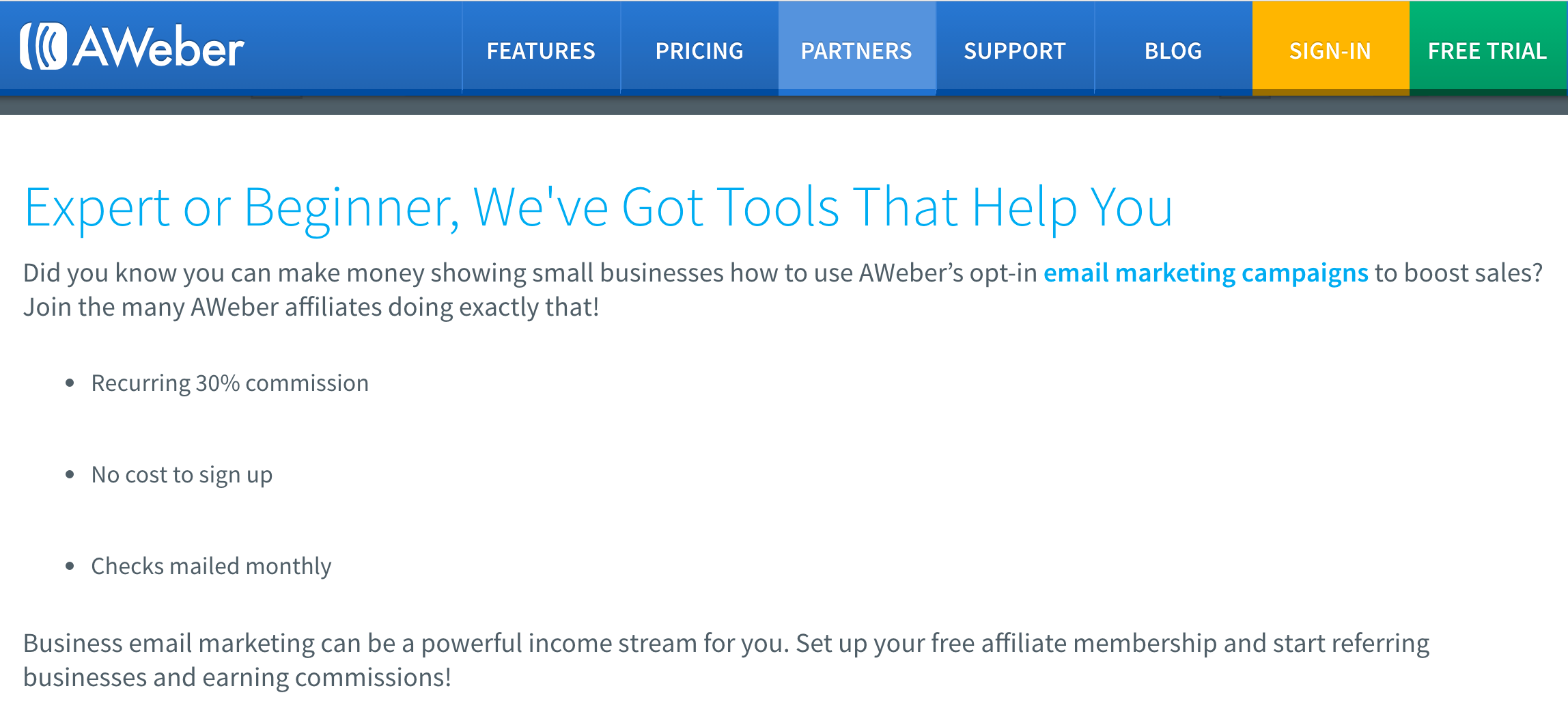 Aweber - Email Marketing Affiliate Programs