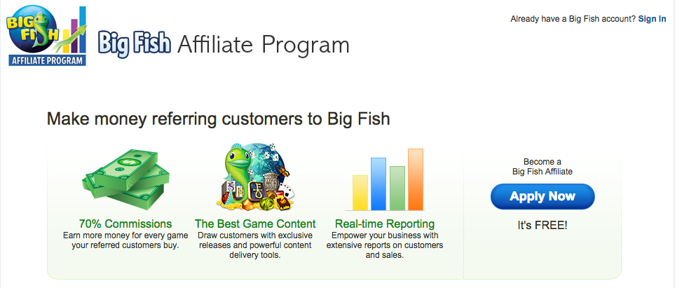 BigFishGames.com - Online Games Affiliate Programs