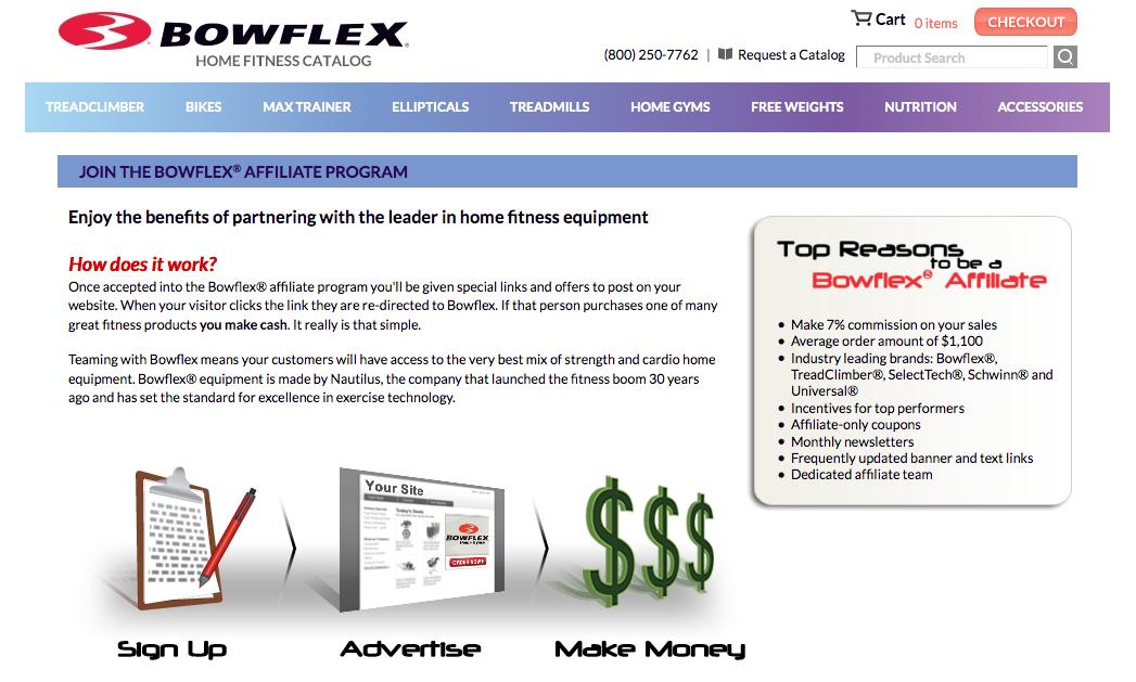 Bowflex - Fitness Affiliate Programs