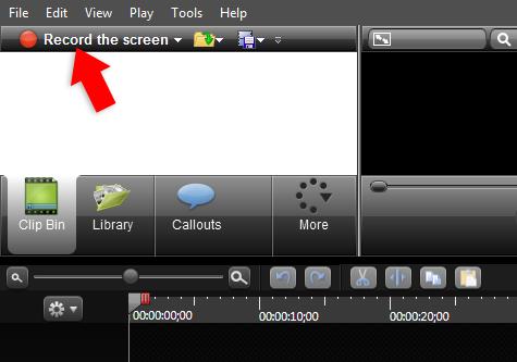 record the screen