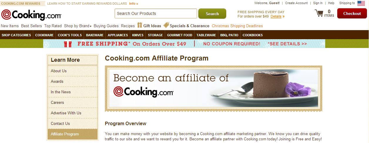 Cooking.com Affiliate Program
