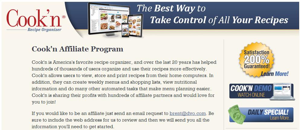 Cook'n Affiliate Program