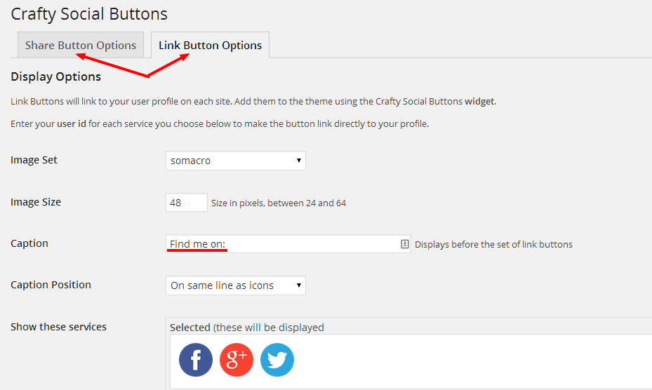 Crafty Social Buttons in WordPress