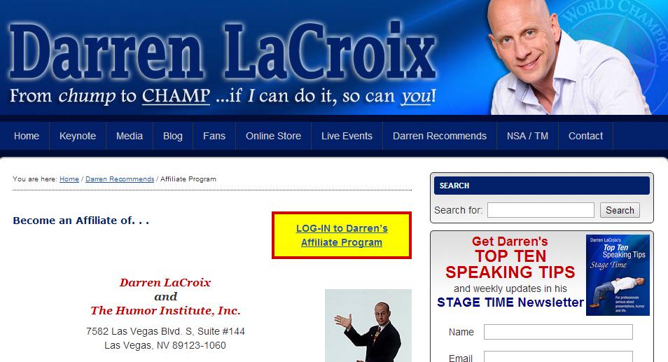 Darren LaCroix - Public Speaking Affiliate Programs