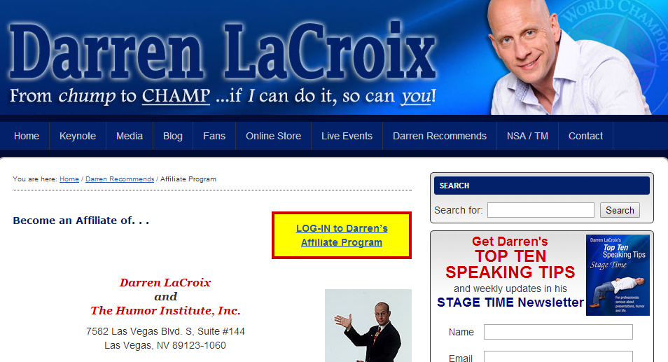 Darren LaCroix - Public Speaking Affiliate Programs