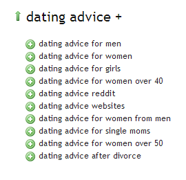 Dating Advice - Ubersuggest Results