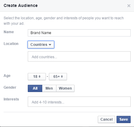 editing Facebook audience