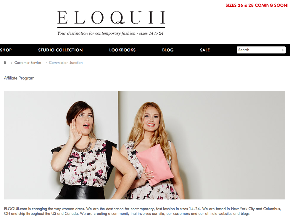 Eloquii.com - Plus Size Fashion Affiliate Programs