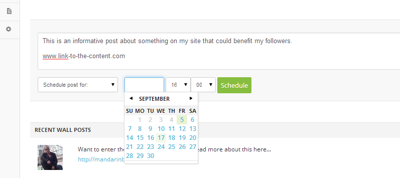 AffiloTools Social Scheduling