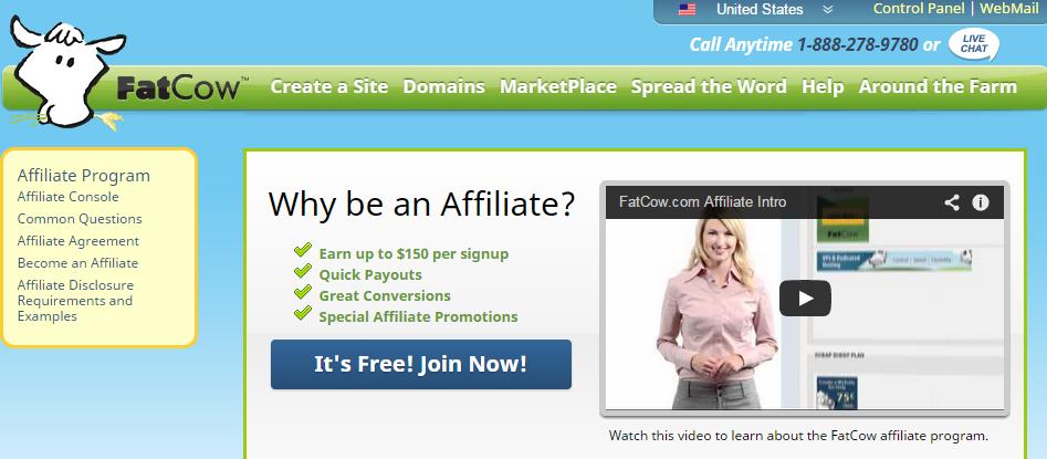 FatCow - Web Hosting Affiliate Program