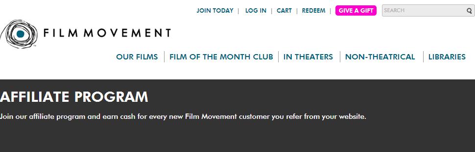 Film Movement - Movie Affiliate Programs