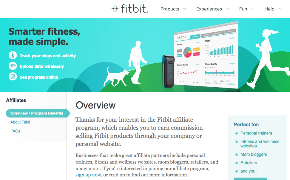 Fitbit.com - Fitness Affiliate Programs