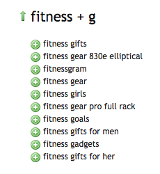 Fitness - Ubersuggest Results G