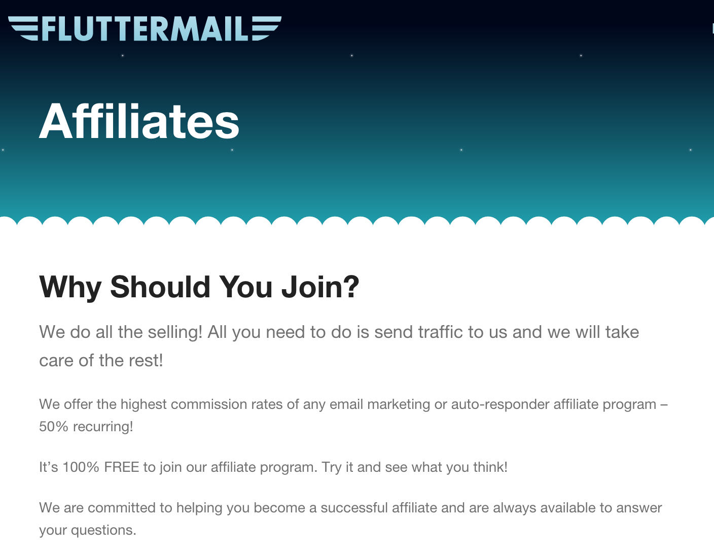 Fluttermail - Email Marketing Affiliate Program