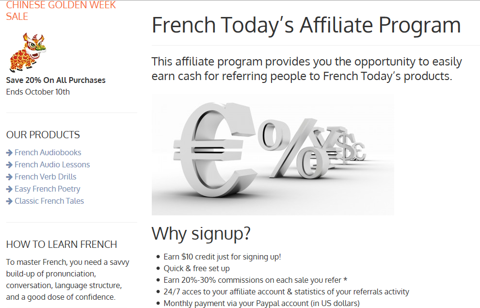 French Today Affiliate Program