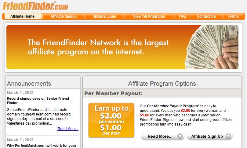 FriendFinder Affiliate Program