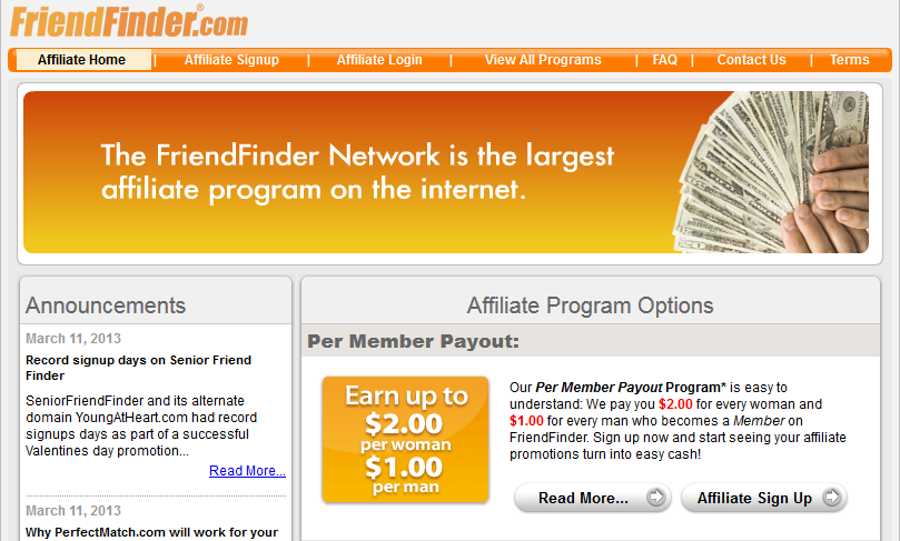 FriendFinder Affiliate Program
