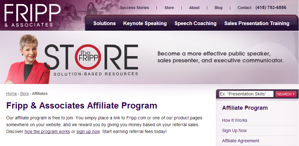 Patricia Fripp - Public Speaking Affiliate Programs