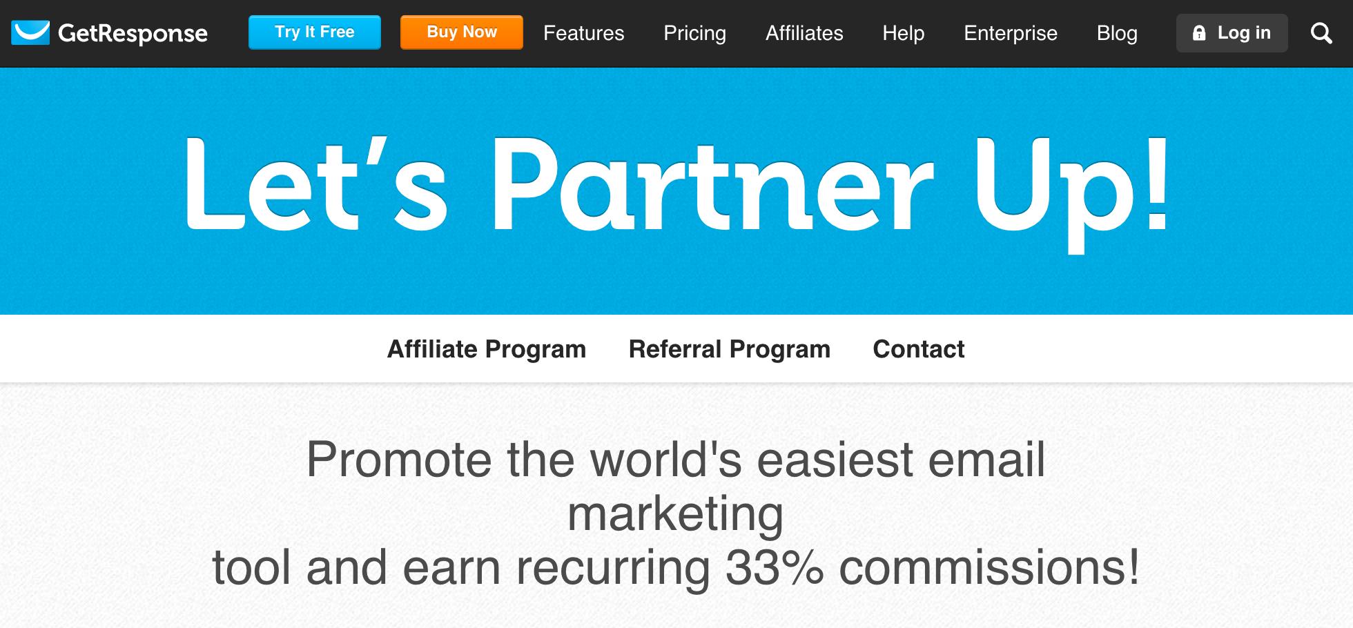 GetResponse - Email Marketing Affiliate Program