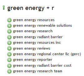 Green Energy - Ubersuggest Results