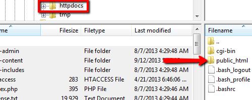 HTTPDOCS to Public HTML