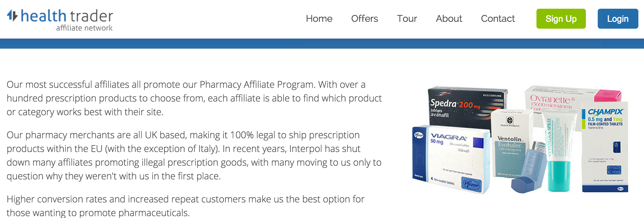 Health Trader - Pharmacy Affiliate Programs