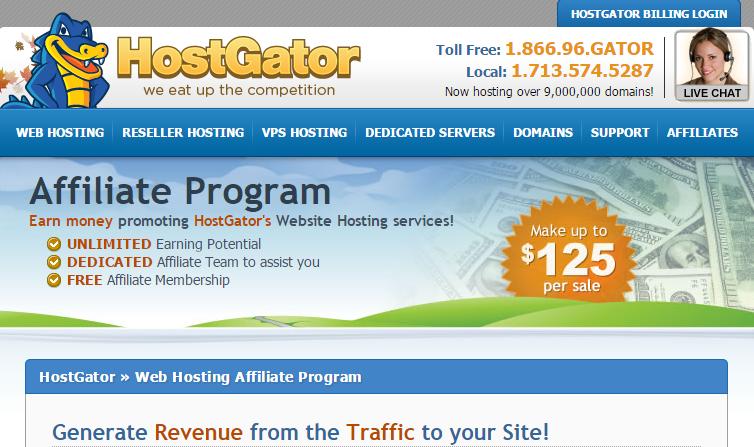 HostGator - Web Hosting Affiliate Program