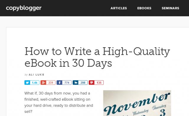 eBook writing training