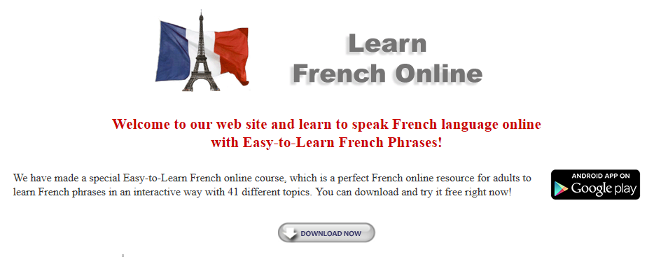 Learn French Online Interactive Audiotexts