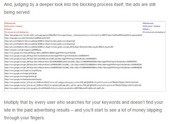 blocked ads still being served