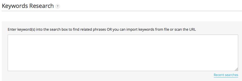 Keyword Research - Manual