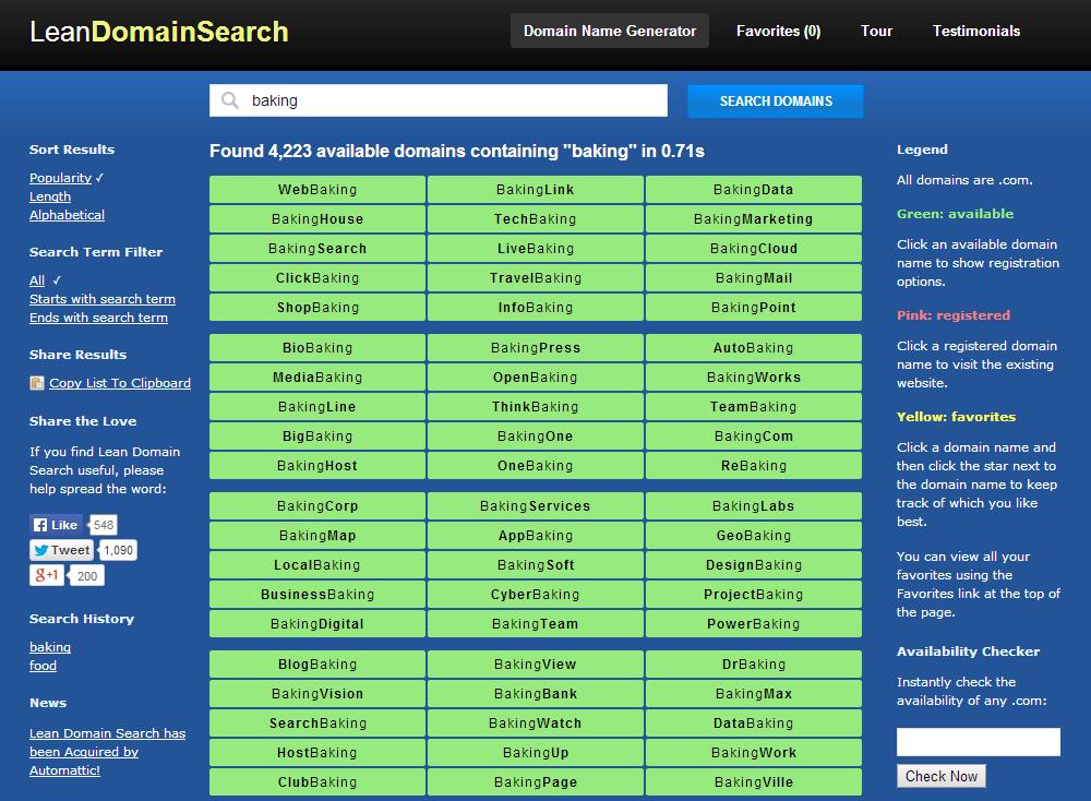 lean domain search