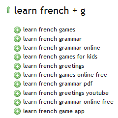 Learn French Ubersuggest G