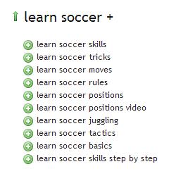 Learn Soccer - Ubersuggest