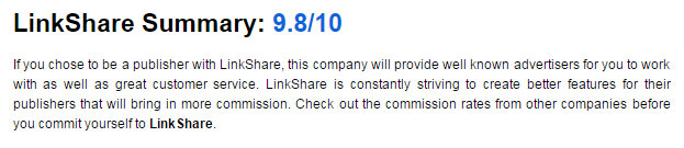 LinkShare blog review
