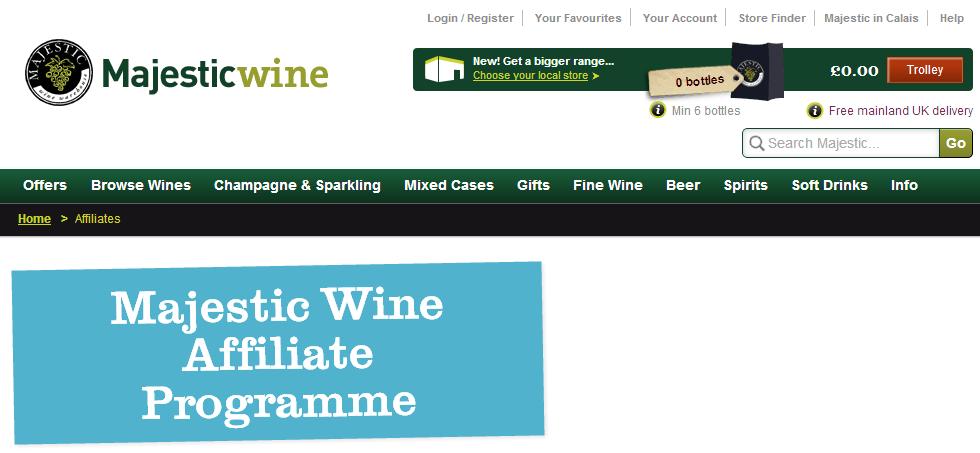 MajesticWine.com Wine Affiliate Programs