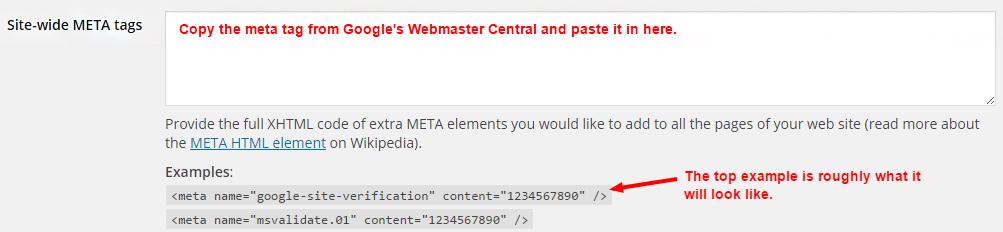 site wide meta tags