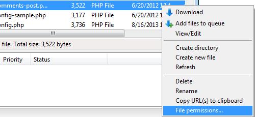 Migrate AJ - Change Permission on Files