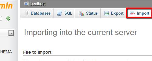 Migrate AJ - Upload MySQL