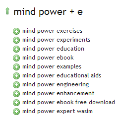 Mind Power Ubersuggest Results