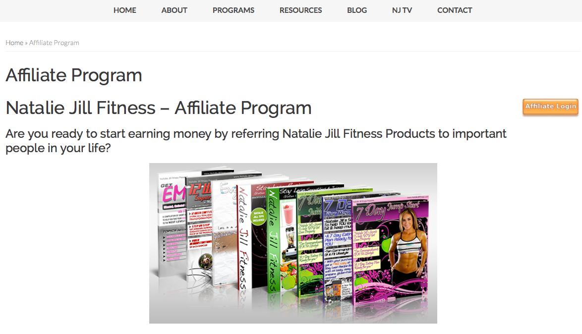 NatalieJillFitness.com - Fitness Affiliate Programs