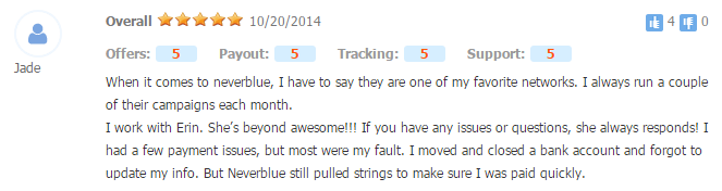 Neverblue review comment